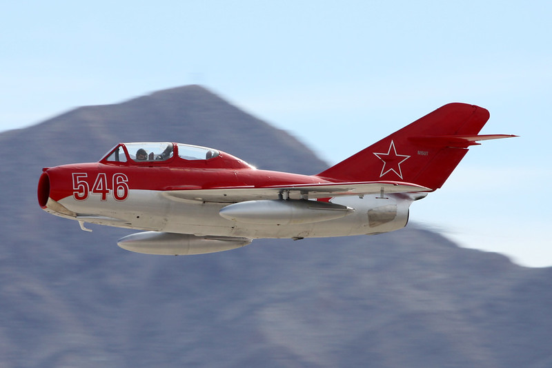 N15UT (546 red) Mikoyan-Gurevich MiG-15 UTI c/n 522546 Nellis/KLSV/LSV 12-11-16