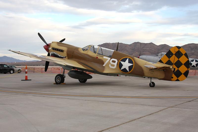 N85104 (79) Curtiss P-40N Warhawk c/n 28954 Nellis/KLSV/LSV 12-11-16