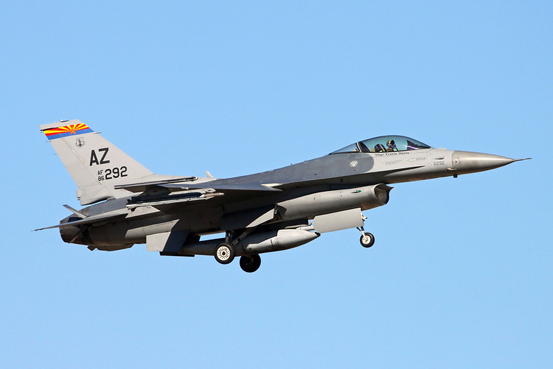 "86-0292 (AZ) General Dynamics F-16C Fighting Falcon ""United States Air Force"" c/n 5C-398 Tucson IAP/KTUS/TUS 14-11-16"