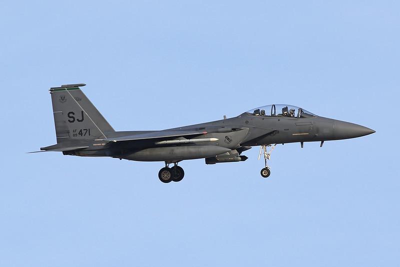 "89-0471 (SJ) McDonnell-Douglas F-15E Strike Eagle ""United States Air Force"" c/n 1118 Nellis/KLSV/LSV 01-02-18"