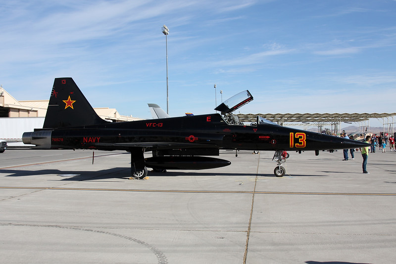 "761578 (13 red) Northrop F-5N Tiger II ""United States Navy"" c/n L1053 Nellis/KLSV/LSV 12-11-16"