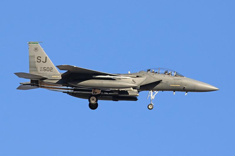 "89-0502 (SJ) McDonnell-Douglas F-15E Eagle ""United States Air Force"" c/n 1149 Nellis/KLSV/LSV 02-02-18"