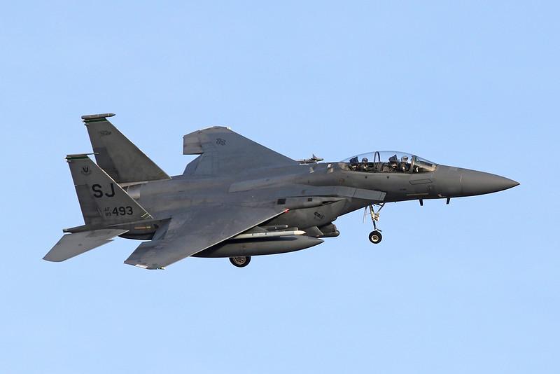 "89-0493 (SJ) McDonnell-Douglas F-15E Eagle ""United States Air Force"" c/n 1140 Nellis/KLSV/LSV 01-02-18"