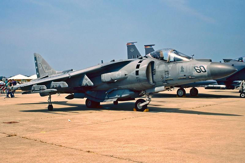 "164569 (EH-60) McDonnell-Douglas AV-8B+ Harrier ""United States Marine Corps"" c/n Pratica di Mare/LIRE 24-05-98 (35mm slide)"