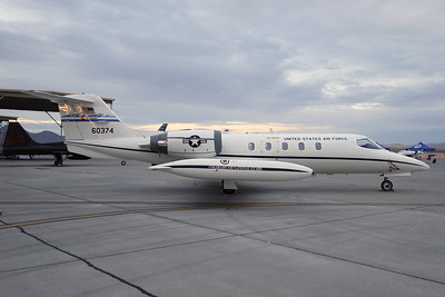 """86-0374 Learjet C-21A """"United States Air Force"""" c/n 35-624 Nellis/KLSV/LSV 12-11-16"""