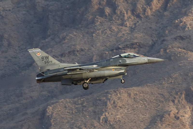 "93-0550 (SW) General Dynamics F-16CJ Fighting Falcon ""United States Air Force"" c/n CC-185 Nellis/KLSV/LSV 01-02-18"