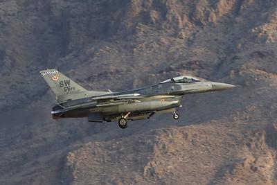 "93-0550 (SW) General Dynamics F-16CJ Fighting Falcon ""United States Air Force"" c/n CC-185 Nellis/KLSV/LSV 01-02-18"