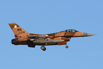 "84-1236 (36 red/WA) General Dynamics F-16C Fighting Falcon ""United States Air Force"" c/n 5C-73 Nellis/KLSV/LSV 02-02-18"