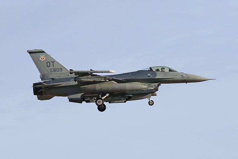 """90-0809 (OT) General Dynamics F-16CJ Fighting Falcon """"United States Air Force"""" c/n CC-9 Nellis/KLSV/LSV 01-02-18"""