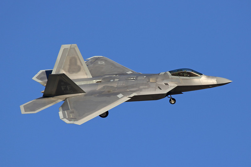 "09-4180 (FF) Lockheed F-22A Raptor ""United States Air Force"" c/n 4180 Nellis/KLSV/LSV 02-02-18"
