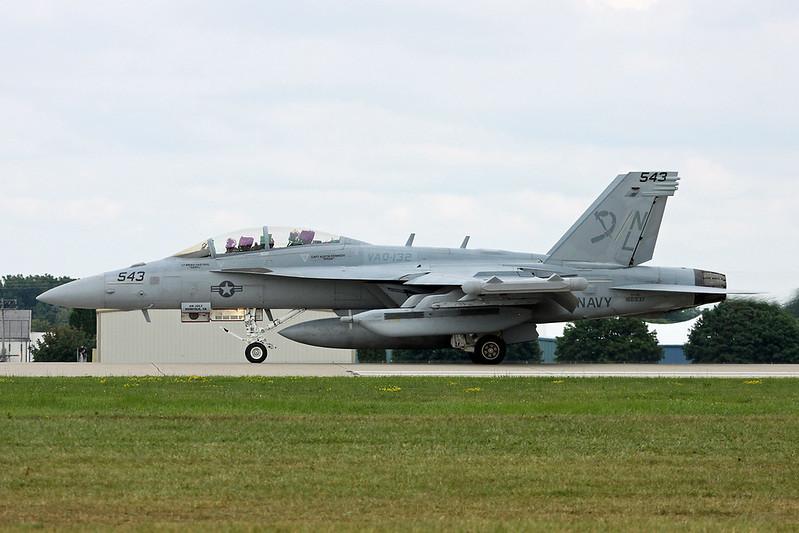 "166937 (NL-543) McDonnell-Douglas EA-18G Growler ""United States Navy"" c/n G-022 Oshkosh/KOSH/OSH 29-07-16"