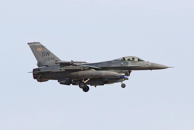 "93-0546 (SW) General Dynamics F-16CJ Fighting Falcon ""United States Air Force"" c/n CC-181 Nellis/KLSV/LSV 01-02-18"