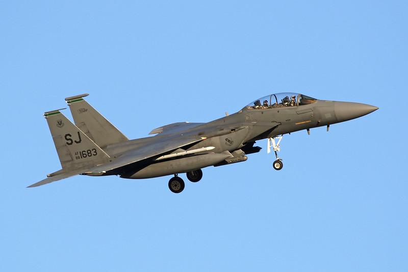 "88-1683 (SJ) McDonnell-Douglas F-15E Strike Eagle ""United States Air Force"" c/n 1092 Nellis/KLSV/LSV 02-02-18"