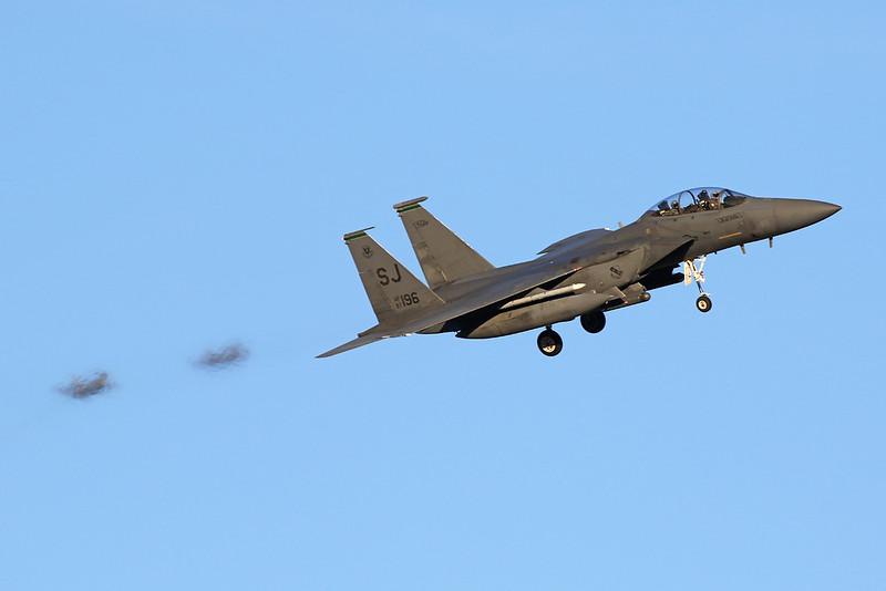 "87-0196 (SJ) McDonnell-Douglas F-15E Strike Eagle ""United States Air Force"" c/n 1061 Nellis/KLSV/LSV 02-02-18"