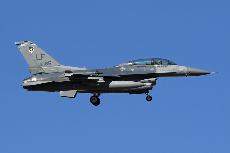 "83-1185 (LF) General Dynamics F-16D Fighting Falcon ""United States Air Force"" c/n 5D-12 Luke/KLUF/LUF 31-01-18"