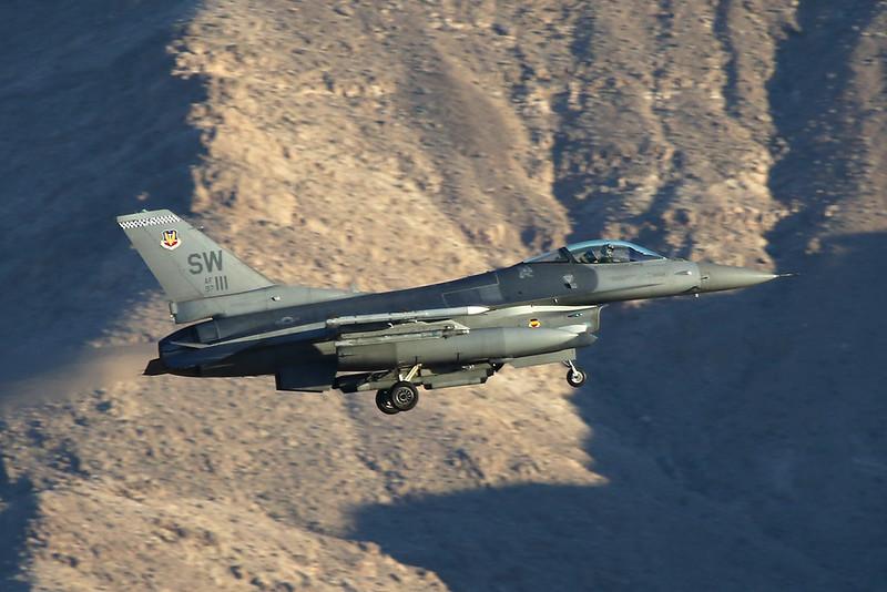 "97-0111 (SW) General Dynamics F-16CJ Fighting Falcon ""United States Air Force"" c/n CC-213 Nellis/KLSV/LSV 02-02-18"