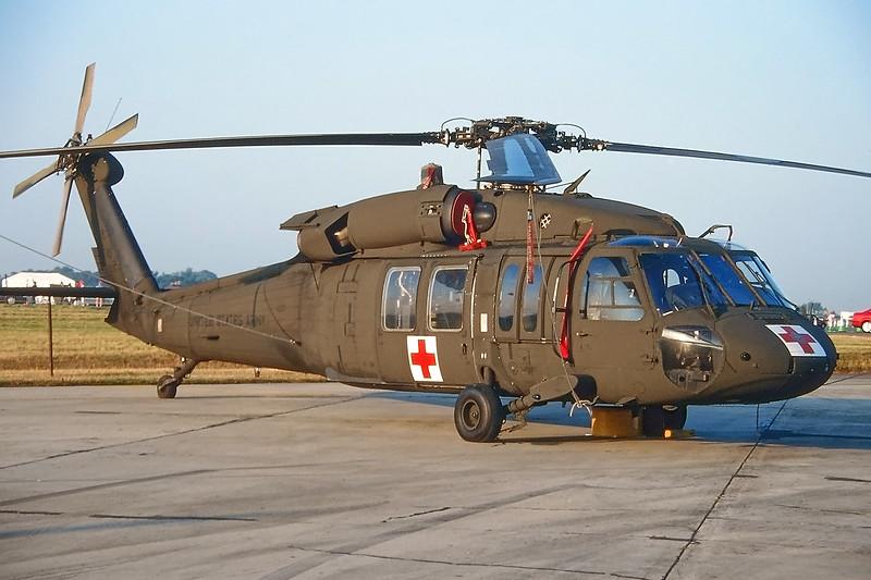 "98-26797 Sikorsky UH-60 L Blackhawk ""US Army"" c/n 702454 Fairford/EGVA/FFD 25-07-99 (35mm slide)"