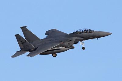 "87-0171 (SJ) McDonnell-Douglas F-15E Strike Eagle ""United States Air Force"" c/n 1036 Nellis/KSLV/LSV 02-02-18"