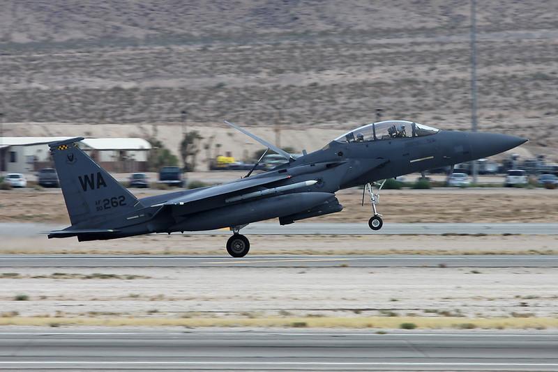 "90-0262 (WA) McDonnell-Douglas F-15E Strike Eagle ""United States Air Force"" c/n 1204 Nellis/KLSV/LSV 12-11-16"