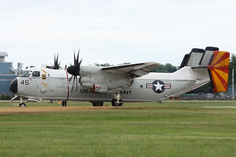 "162168 (45) Grumman C-2A Greyhound ""United States Navy"" c/n 48 Oshkosh/KOSH/OSH 28-07-16"