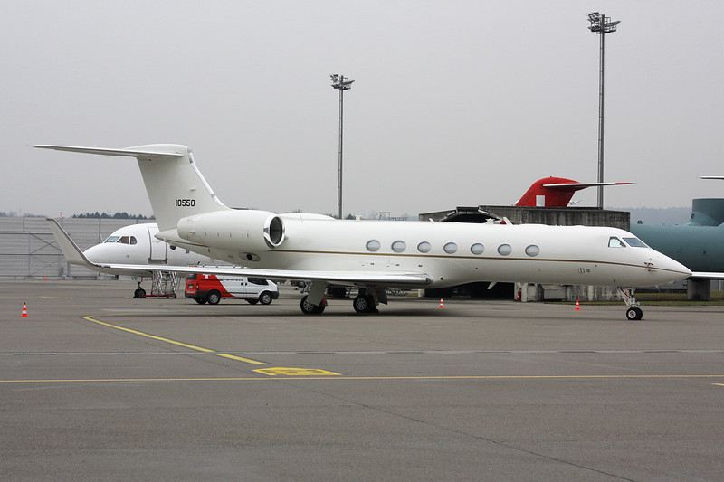 "11-0550 Gulfstream C-27B ""United States Air Force"" c/n 5297 Zurich/LSZH/ZRH 26-01-12"