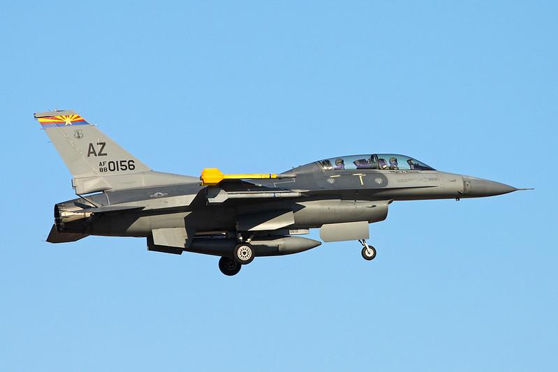 "88-0156 (AZ) General Dynamics F-16DG Fighting Falcon ""United States Air Force"" c/n 1D-10 Tucson IAP/KTUS/TUS 14-11-16"