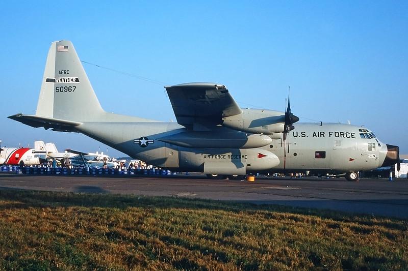 """65-0967 Lockheed C-130H Hercules """"US Air Force"""" c/n 4108 Fairfrod/EGVA/FFD 25-07-99"""