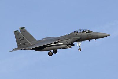 "88-1676 (SJ) McDonnell-Douglas F-15E Strike Eagle ""United States Air Force"" c/n 1085 Nellis/KLSV/LSV 01-02-18"
