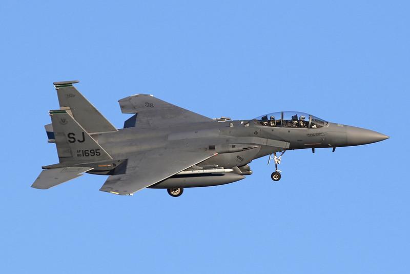 "88-1695 (SJ) McDonnell-Douglas F-15E Strike Eagle ""United States Air Force"" c/n 1104 Nellis/KLSV/LSV 02-02-18"