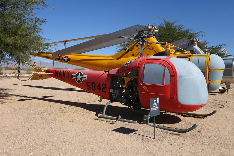 145842 (HT-22) Bell Helicopters TH-13N Sioux c/n 2119 Pima/14-11-16