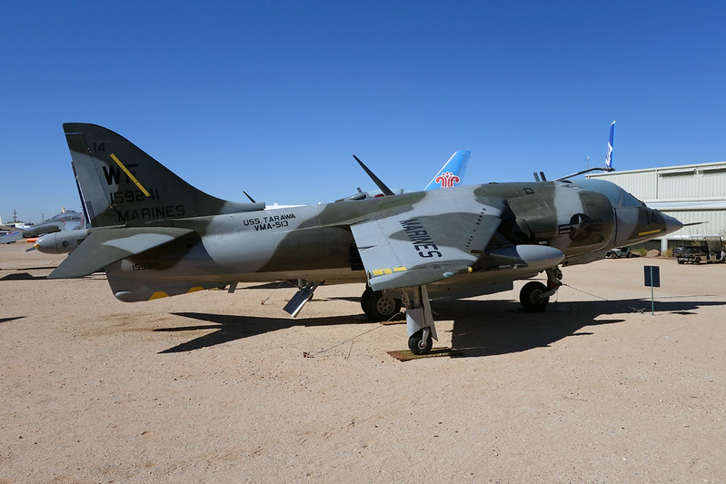159241 (WF-14) McDonnell-Douglas AV-8C Harrier c/n 712150 Pima/14-11-16