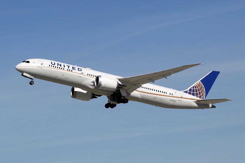 N27959 Boeing 787-9 c/n 36407 Los Angeles/KLAX/LAX 26-01-18