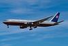 N645UA Boeing 767-322ER c/n 25280 Los Angeles/KLAX/LAX 08-03-04 (35mm slide)