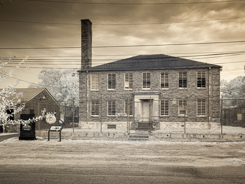 The old Perry County jail. If you marched for voting rights you were likely to get locked up here.