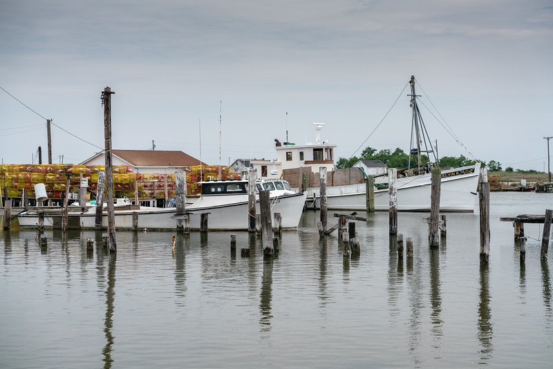 The Delvin K with crab pots.