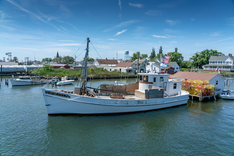 The Delvin K is the last working oyster buy boat on the Chesapeake Bay. A buy boat collects catches from smaller boats and takes them to the market.
