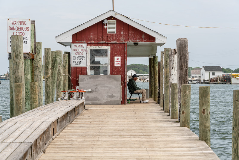 Old man at the fuel dock.