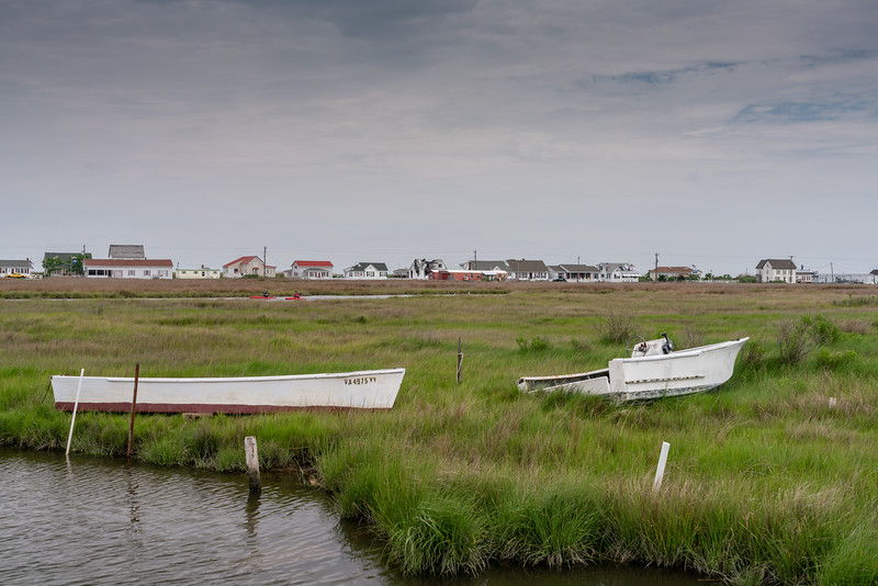 Abandoned boats, looking west toward the West Ridge.