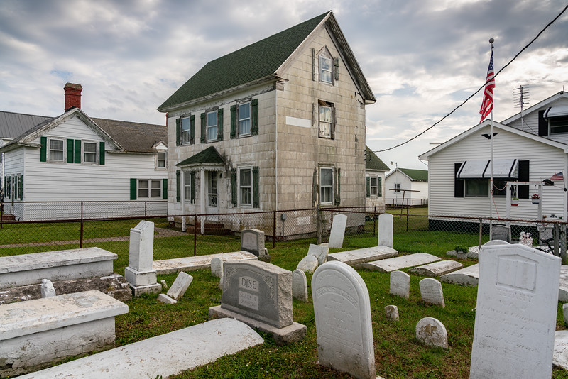 An empty house and a full cemetery...story of Tangier.