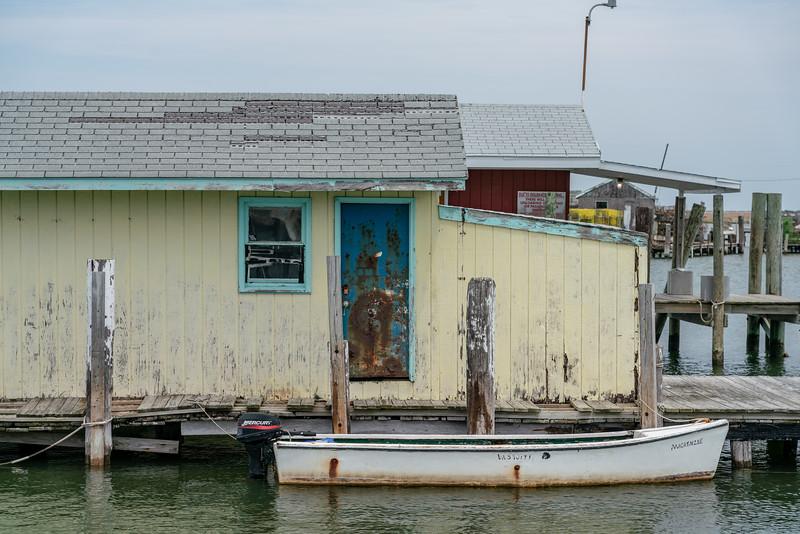 Skiff at town dock.