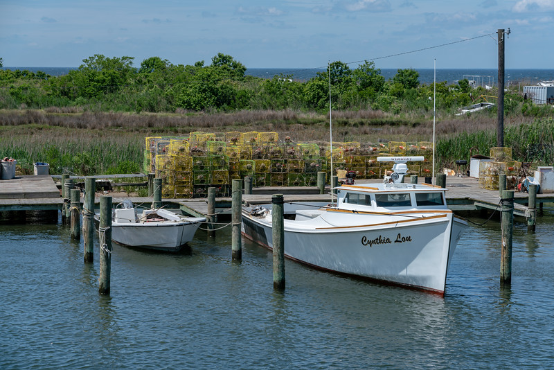 A traditional Chesapeake Bay deadrise boat.