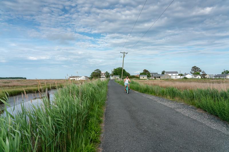 Man on a bike, Canton Road.