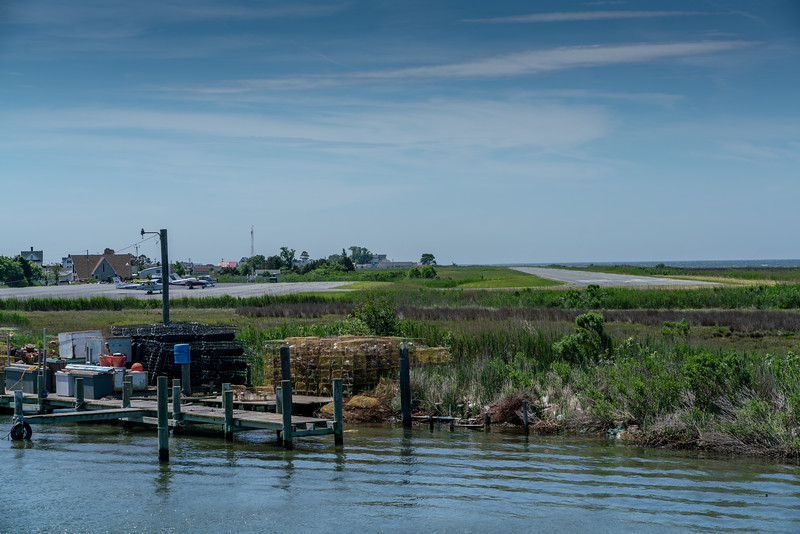 The Tangier Island Airport, KTGI.