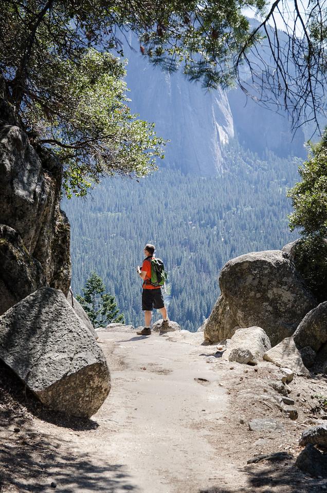 Tony taking in the Yosemite Valley.