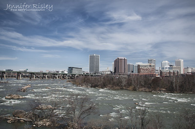 Richmond Skyline over the James River
