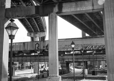 Overpasses in Shockoe Bottom