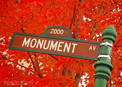 Monument Avenue Sign