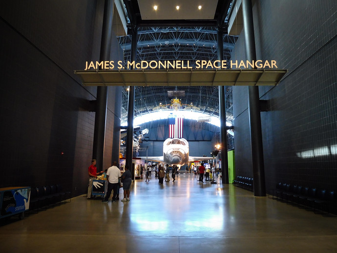 james s mcdonnell space hangar