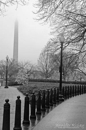 Washington Monument in the Fog