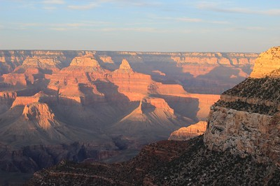 The Grand Canyon at dusk